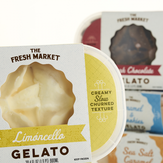 The Fresh Market Gelato Packaging Design