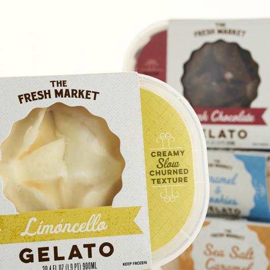 The Fresh Market Gelato Packaging Design