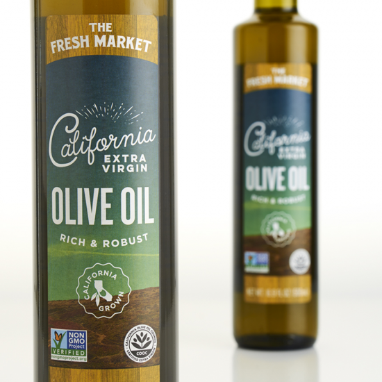 The Fresh Market Olive Oil Packaging Design