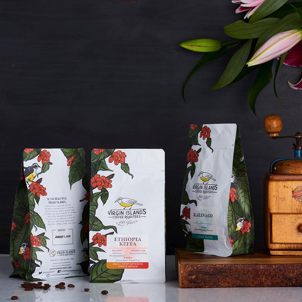 Virgin Islands Coffee Roasters Full Packaging Design