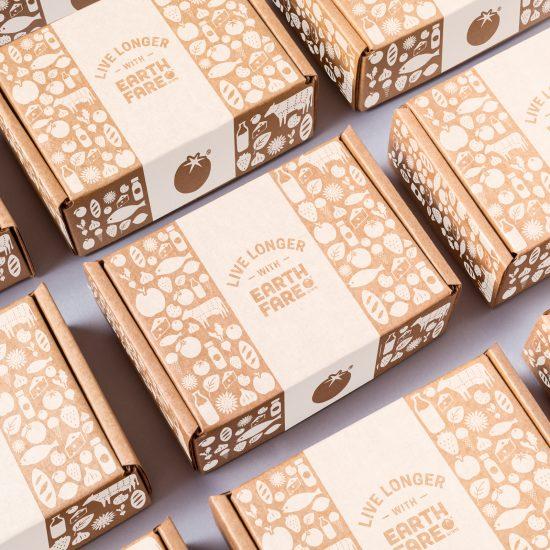 Earth Fare eCommerce Shipping Box